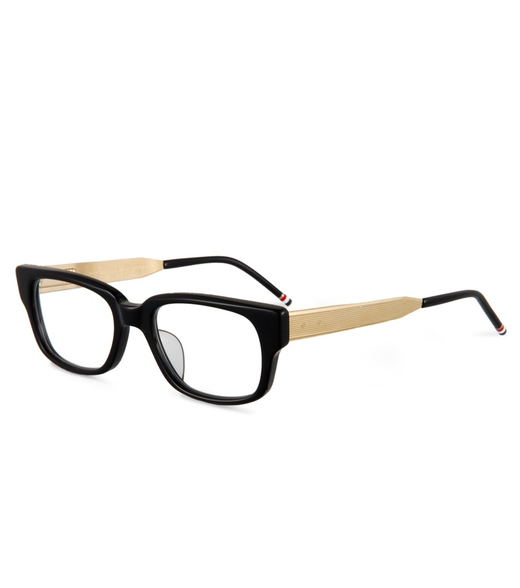 I wish i didn't have 20/20 vision... Black/Gold Frames - Thom Browne x Dita s/s 2012