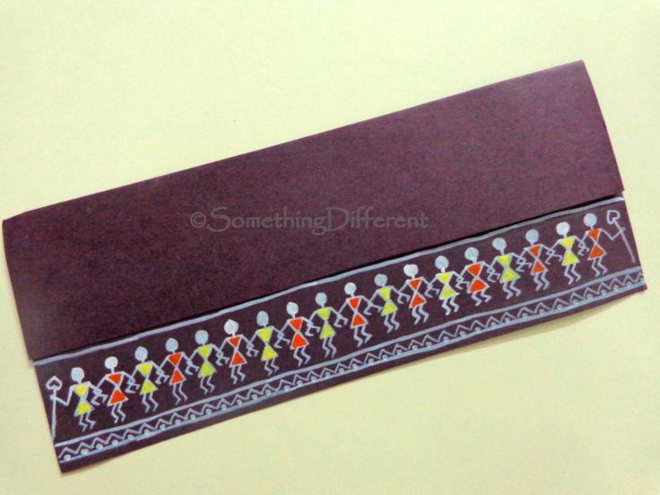Warli painting, greeting card