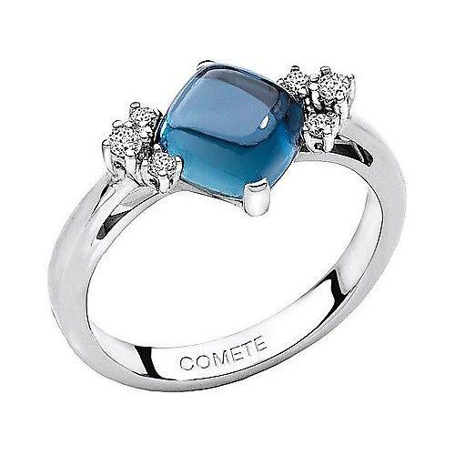 Comete Gioielli Anello con topazio, diamanti ANB 1400 Misura 17 GioielliVarlotta