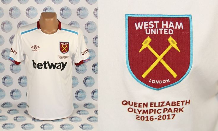 WEST HAM UNITED 2016 2017 AWAY FOOTBALL SOCCER SHIRT JERSEY TRIKOT MAILLOT L  #UMBRO #WestHamUnited