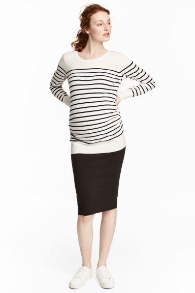 MAMA Jersey pencil skirt - Black - Ladies   H&M GB 1