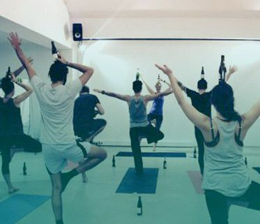 Yoga Beer, the ultimate hope for your bf to come to yoga class with you