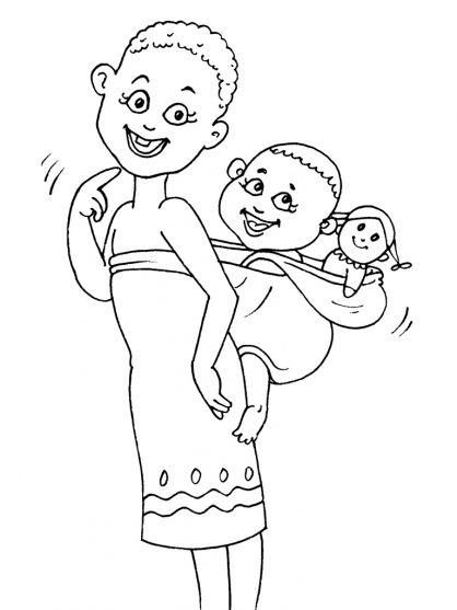 Kleurplaten thema Afrika voor kleuters / African theme preschool / thème Afrique maternelle