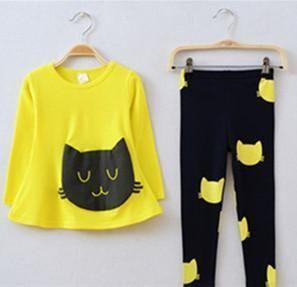 $9.39 (Buy here: https://alitems.com/g/1e8d114494ebda23ff8b16525dc3e8/?i=5&ulp=https%3A%2F%2Fwww.aliexpress.com%2Fitem%2FGirls-clothing-sets-cat-cute-toddler-girl-clothes-kids-conjunto-infantil-meninas-conjuntos-para-meninas-cheap%2F32783711380.html ) Girls clothing sets cat cute toddler girl clothes kids conjunto infantil meninas conjuntos para meninas cheap infant clothing for just $9.39