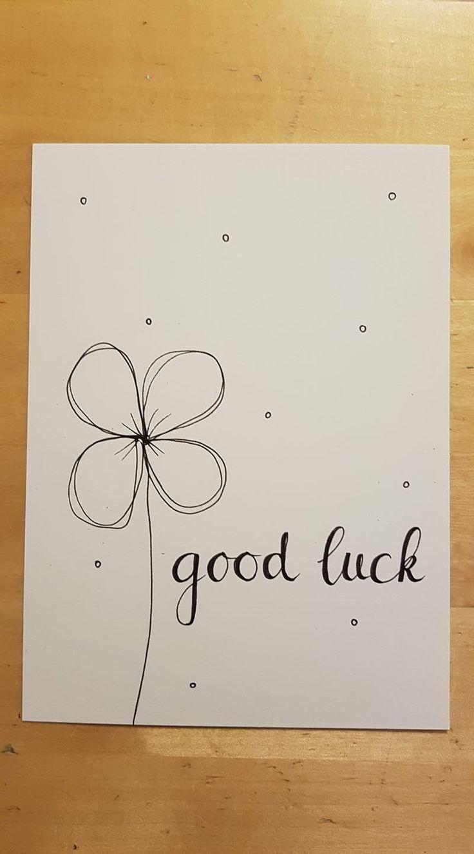 good luck, veel succes