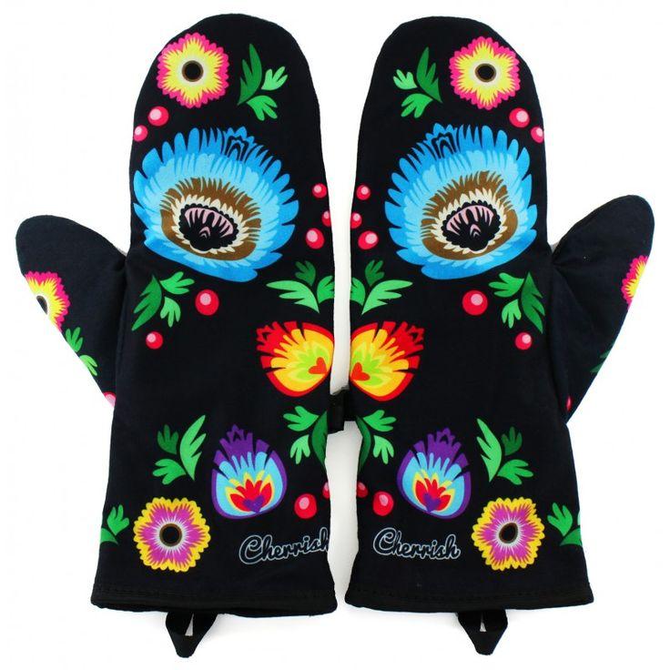 Rękawiczki Cherrish Łowickie / polish folk gloves - polscy projektanci / polish fashion designers - ELSKA