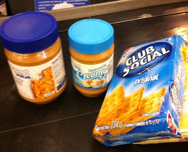 Mantequilla de maní y galletas