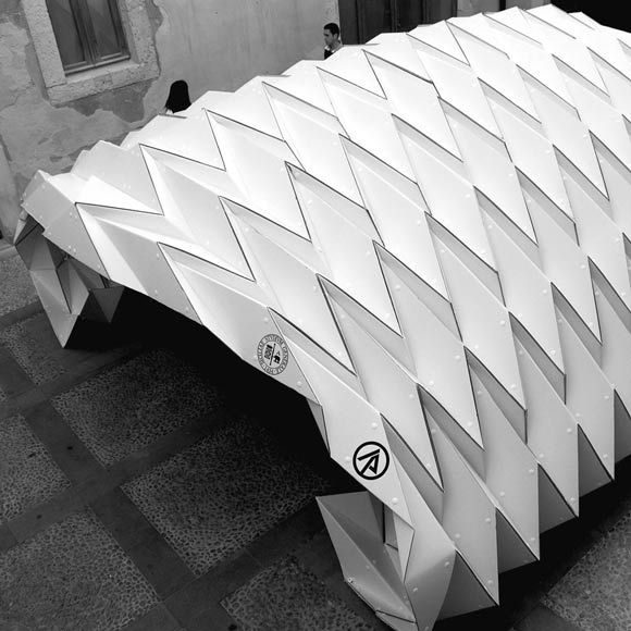 how to make origami architecture