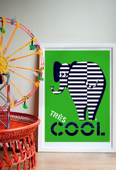 Tres Cool  by NellieRyanDesign on Etsy