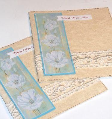 Biglietto con fiori stampati per la mamma