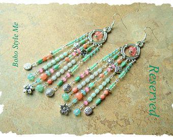 Boho Gypsy Assemblage Earrings Colorful Bohemian Jewelry