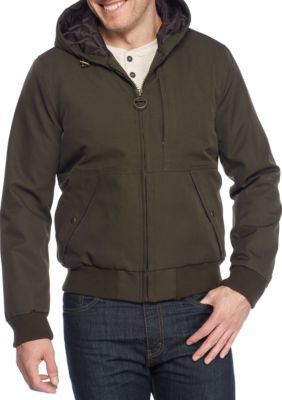 G.H. Bass & Co. Men's Campsite Hooded Bomber Jacket - Olive - 2Xl