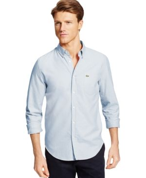 Lacoste Button-Down Oxford Shirt - Blue XL/2XL