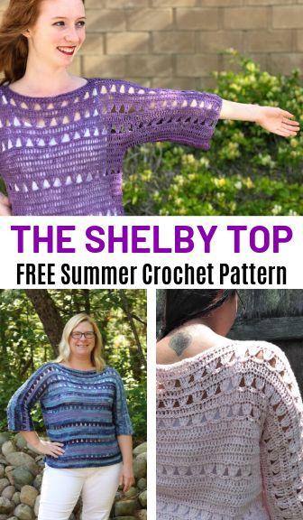 Crochet Patterns Blusas Free Summer Crochet Pattern: The Shelby Top!