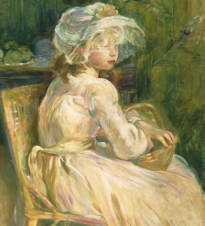 'Young Girl with Basket' (1892) by French painter Berthe Morisot. Philadelphia Museum of Art © 2015 Philadelphia Museum of Art.