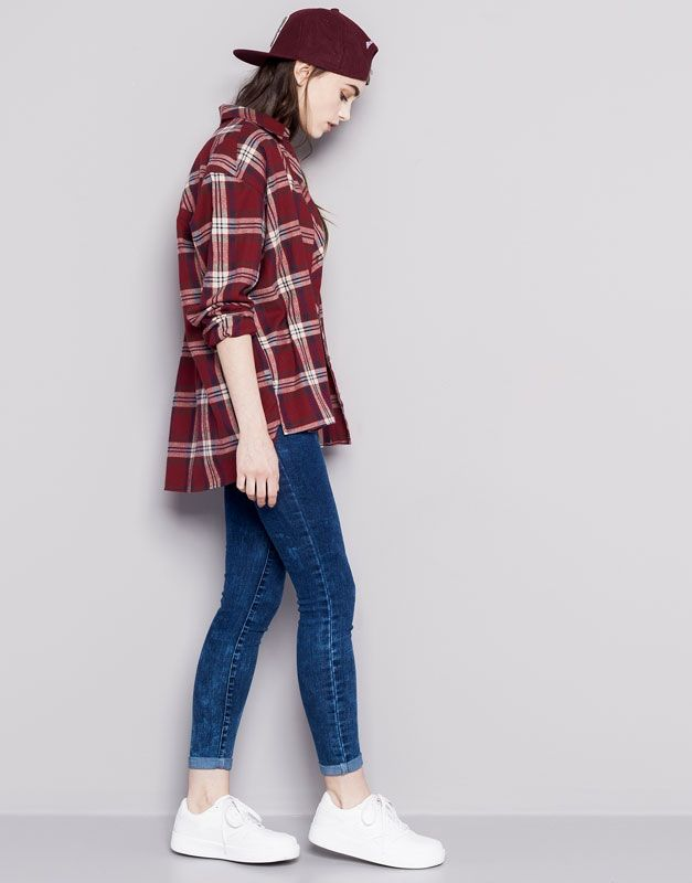 Pull&Bear - dames - denim collection - superskinny jeans met hoge taille - blauw - 05682300-V2015