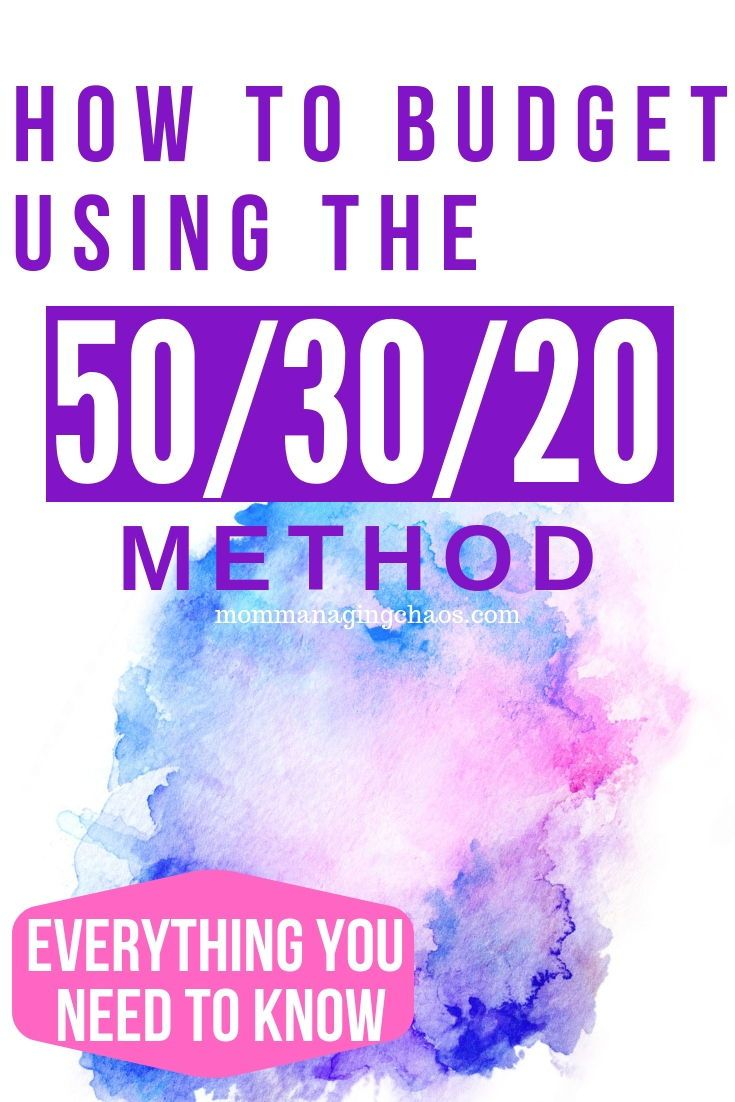 The 50/30/20 Rule for BudgetingMom Managing Chaos | Frugal living, Budgeting, Organization, Productivity and Mom Life