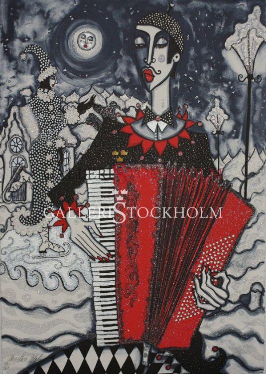 Angelica Wiik - Litografi - Isdans. Beställ här! Klicka på bilden.