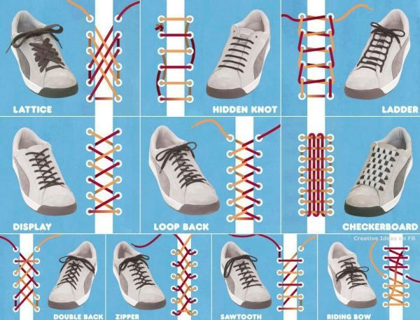 Different shoelace designs DIY