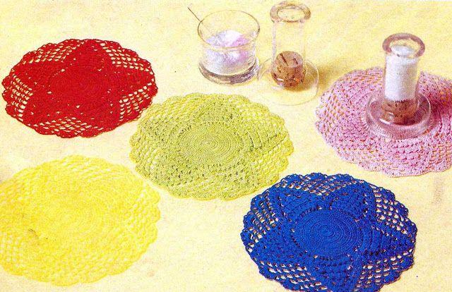Patrón #1022: Salva Manteles Vasos a Cochet   CTejidas [Crochet y Dos Agujas]