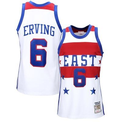 Mens Philadelphia 76ers Julius Erving Mitchell & Ness White All Star East 1980 Authentic Basketball Jersey