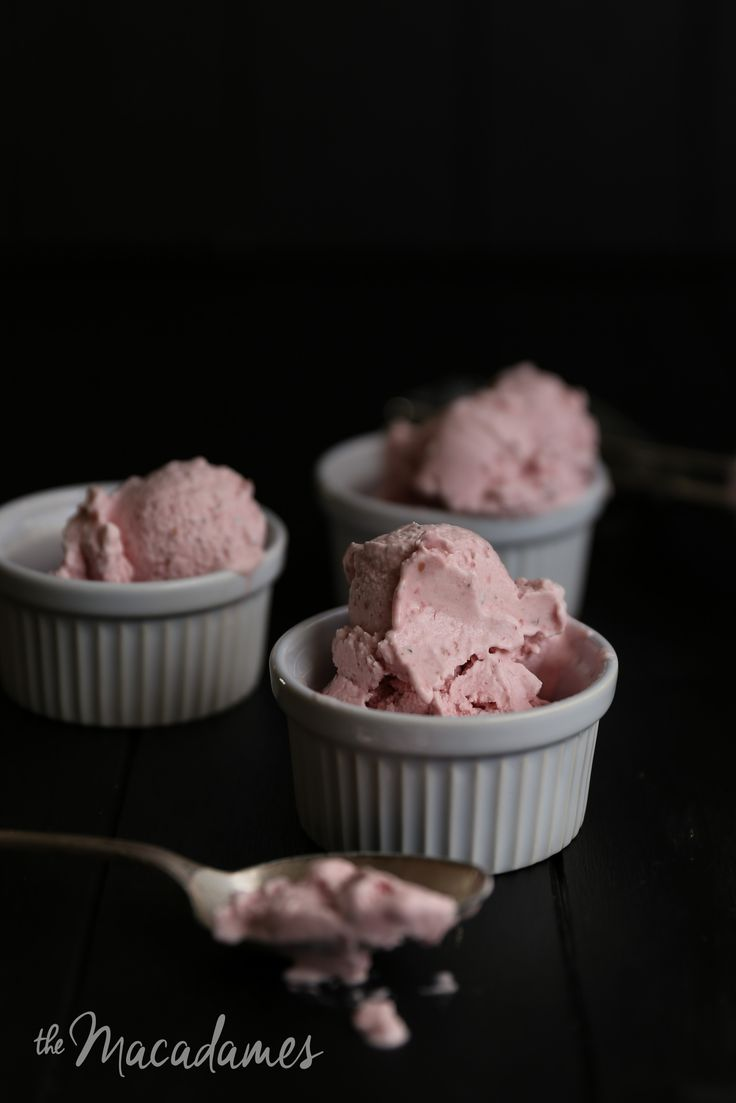 Vegan Raspberry Sage Ice Cream Anisa Sabet | The Macadames
