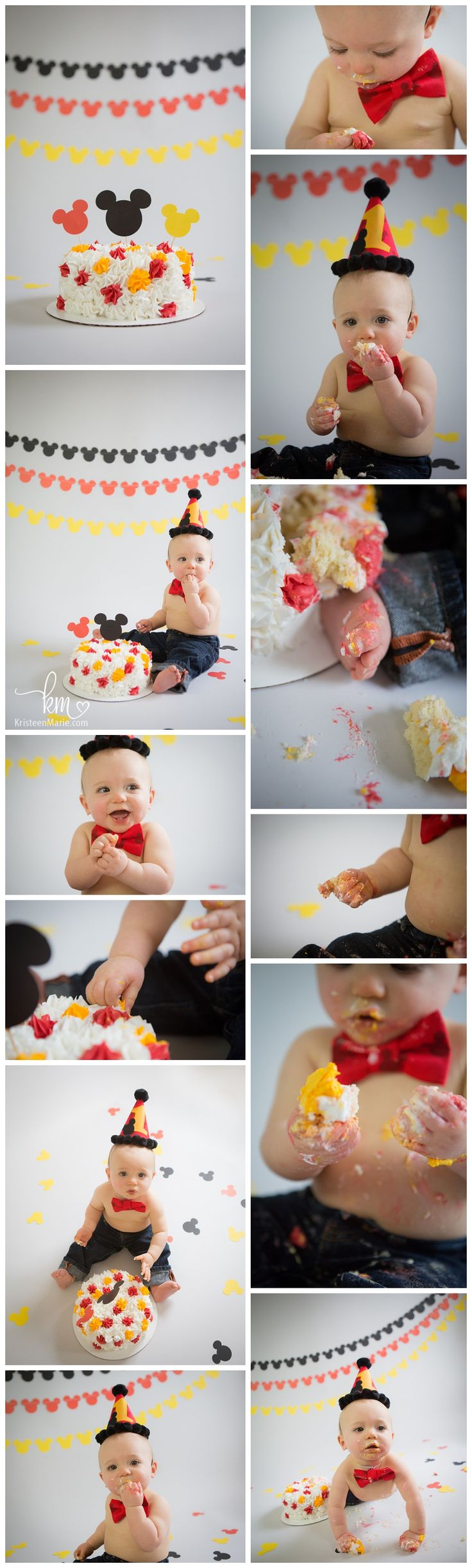 Mickey Mouse Cake Smash Session – Indianapolis 1st Birthday Cake Smash