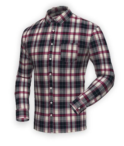 Blue flannel checked Shirt http://www.tailor4less.com/en-us/men/shirts/2404-blue-flannel-checked-shirt