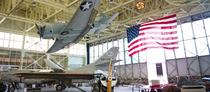 One of many museums located near the Pearl Harbor Visitor Center, the Pacific Aviation Museum stands to honor World War II, along with the USS Arizona Memorial, located in Honolulu, Oahu.