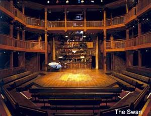 "The Swan Theatre, Stratford-upon-Avon, England. Spent part of my honeymoon in Stratford & saw a brilliant performance of ""Henry IV"" at The Swan."