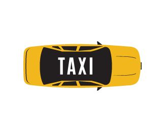 Taxi Logo design - This is a unique design of a taxi in a  very attractive and corporate style, used black, yellow and white colors to make it professional and appealing, this design can be useful for transport business, travels, drivers, taxi services and more.  Price $250.00