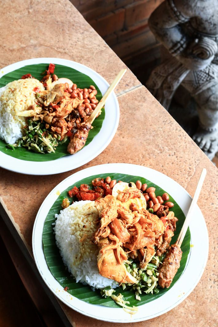 Nasi Ayam Kedewatan Ibu Mangku - local food on the list of Ubud's best eats from ladyironchef. #makan #savewarunglokal #Bali #Indonesia