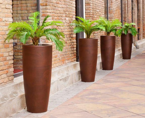 Macetas modelo bambu color bronce de newgarden spain en - Bambu cuidados en maceta ...