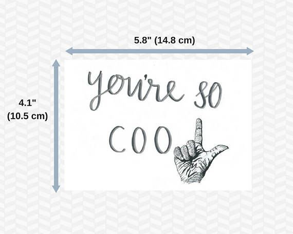 You're So Cool Loser Card  Humor card  Funny