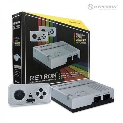 Retron-1-NES-System-Top-Loader-Silver-2-Controllers-Nintendo-Console-NEW