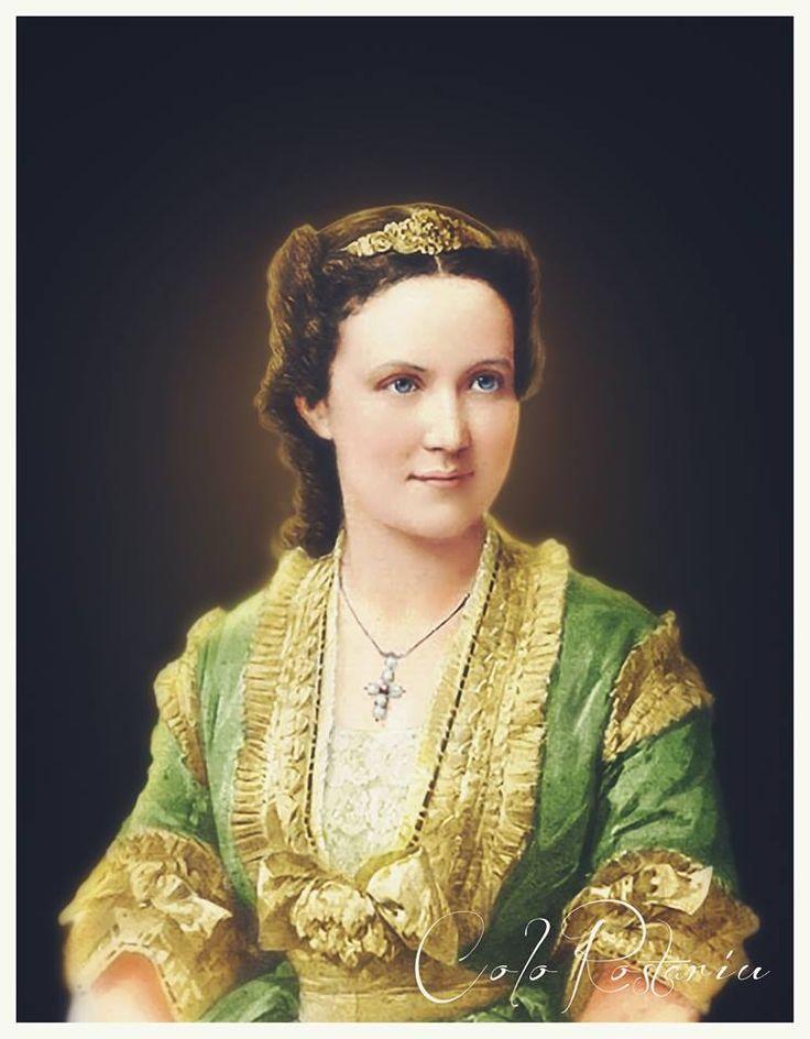 Queen Elisabeth of Romania,wife of King Carol I  ;the full name :Elisabeth Pauline Ottilie Luise zu Wied,( 29 decembrie 1843, Neuwied, Germania - d. 18 februarie 1916, Curtea de Argeș,Romania)(Carmen Sylva)