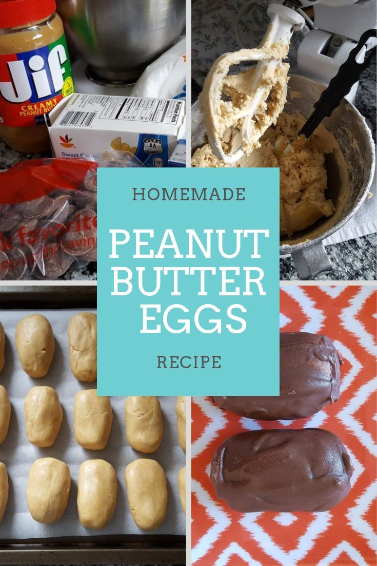 Homemade Peanut Butter Eggs Recipe – Chocolate Peanut Butter Combine to make thi…   – Home