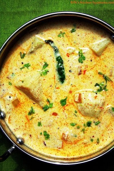 Dahi Aloo - potatoes in yogurt gravy |