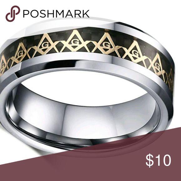 Masonic Ring Freemason, freemasonry,  Mason,  Masonry,  mason's ring Accessories Jewelry