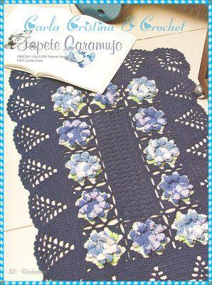 Carla Cristina & Crochet: Tapetes de Crochê em Barbante