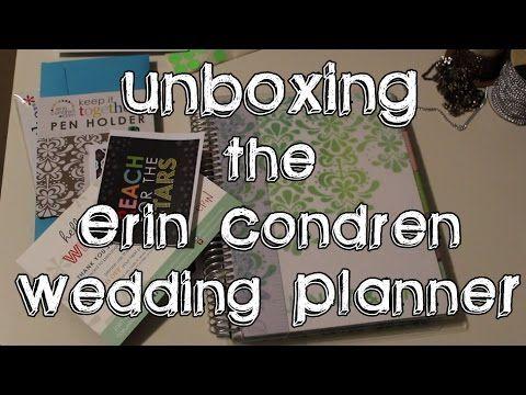 Unboxing The Erin Condren Wedding Planner - YouTube