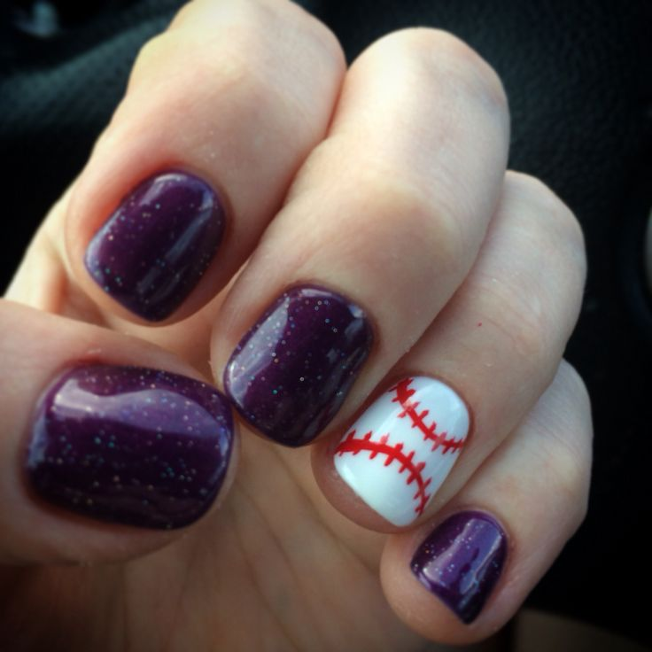 My new baseball nails! Opening Day! Colorado Rockies! My nail lady is amazing!