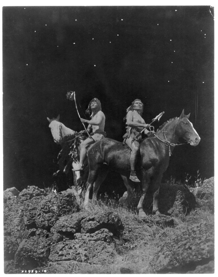 Watching for the Signal, Nez Perce by Edward Sheriff Curtis