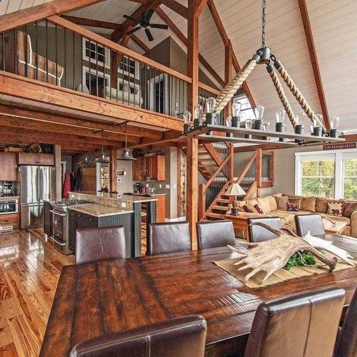 Yankee Barn Homes On Instagram Moose Ridge Lodge Is A Small Ybh With Maximum Space Utility Smallhouse Barnhome P Yankee Barn Homes Barn House Plans House