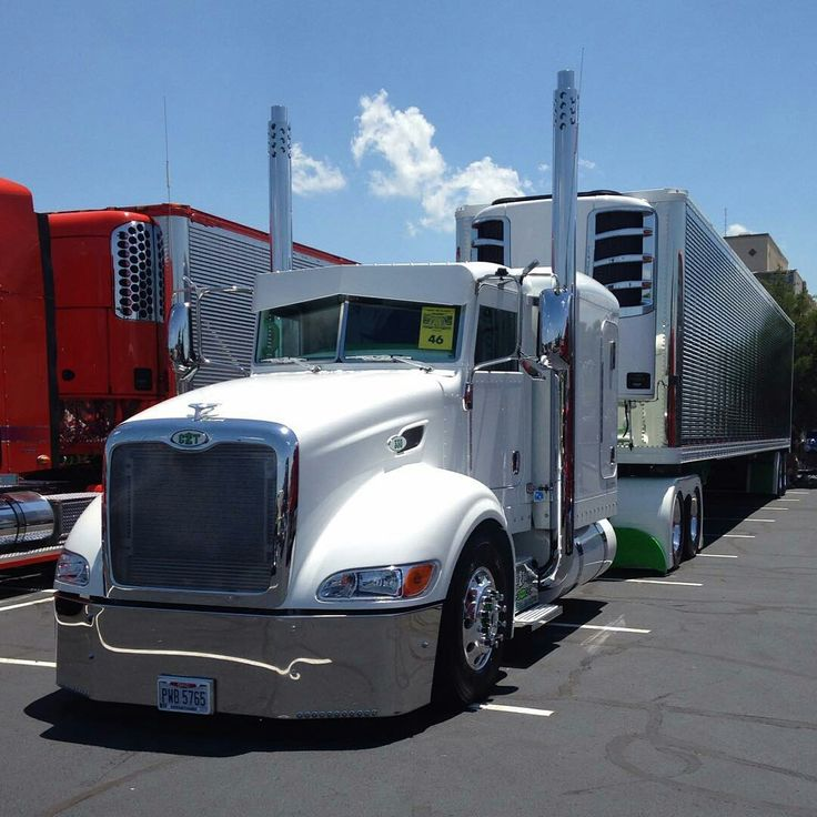 Peterbilt custom 386 with matchin reefer | Semi Truck ...