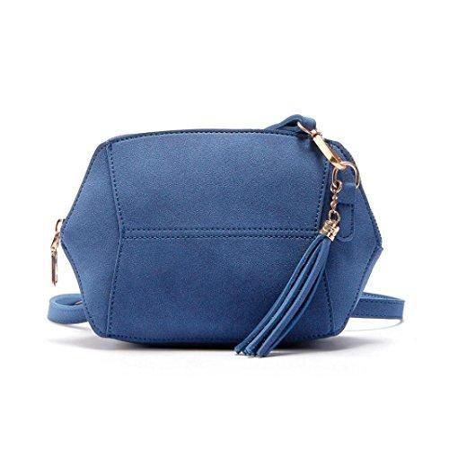 Oferta: 5.08€. Comprar Ofertas de Bolsos Para mujer, RETUROM Bolso de hombro de cuero suave de las mujeres de la manera para el estudiante (azul) barato. ¡Mira las ofertas!