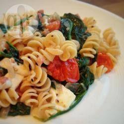 Foto recept: Pasta met spinazie en mozzarella