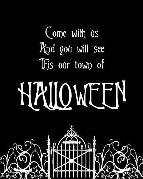 free halloween town printable if you love the nightmare before christmas you will love - Halloween Pitures