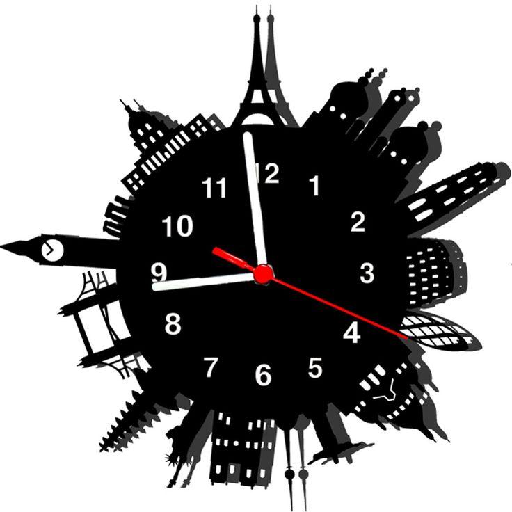 Relógio de Parede Decorativo Monumentos 2 - Casa America                                                                                                                                                                                 Mais