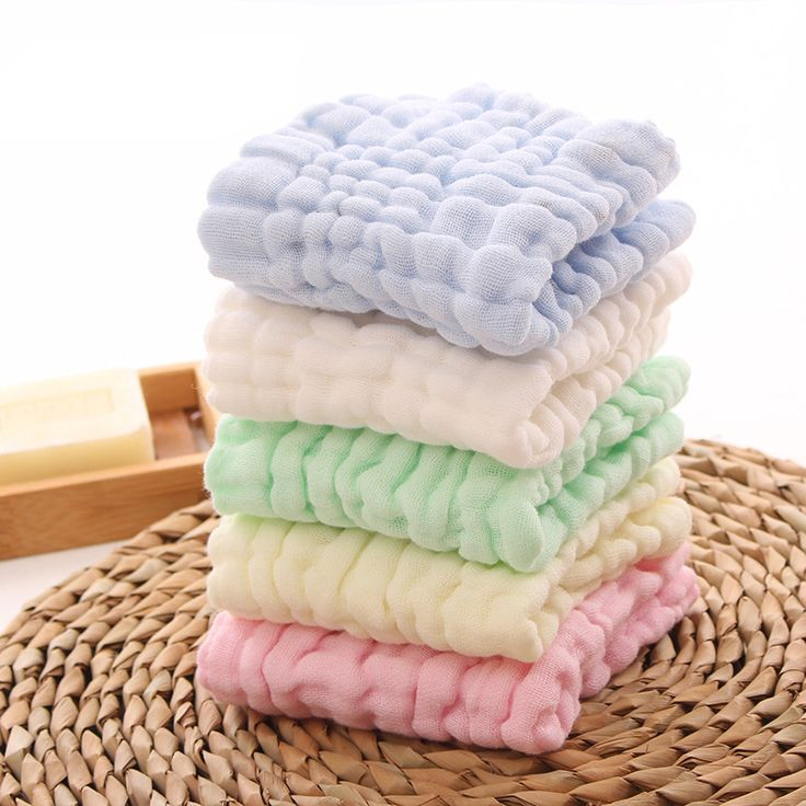 100% Cotton Six Layer Baby Towel Gauze Baby Saliva Towel Children Towels Baby Care 5 Colors 30x30cm #Affiliate